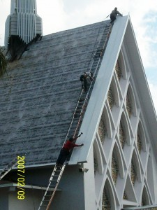 Metal Roof on Christ Church