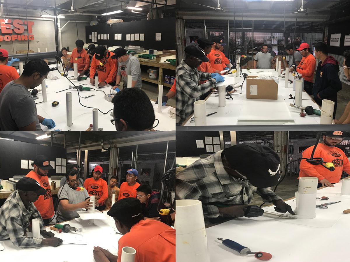 single ply welding