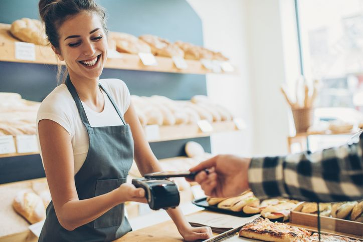 small business owner client transaction