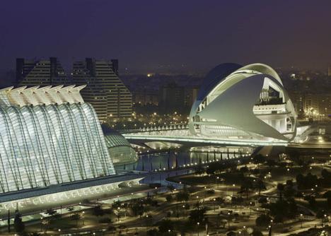 Palau de les Arts Reina Sofia at the City of Arts and Sciences Valencia by Santiago Calatrava