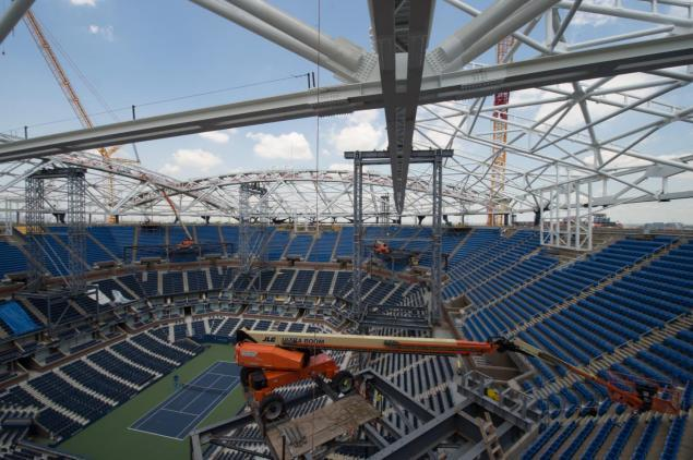 The National Tennis Center in Queens is a giant construction site right now, but USTA officials say the construction will not impact the 2015 U.S. Open this summer.
