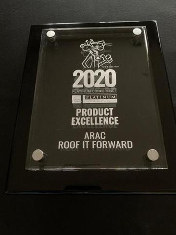 ARAC Roof It Forward Earns 2020 Platinum Preferred Contractor Product Excellence Award - Image 1