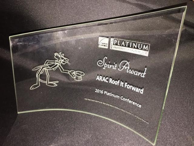 ARAC Roof It Forward Wins Spirit Award at Owens Corning Yearly Award Ceremony - Image 1